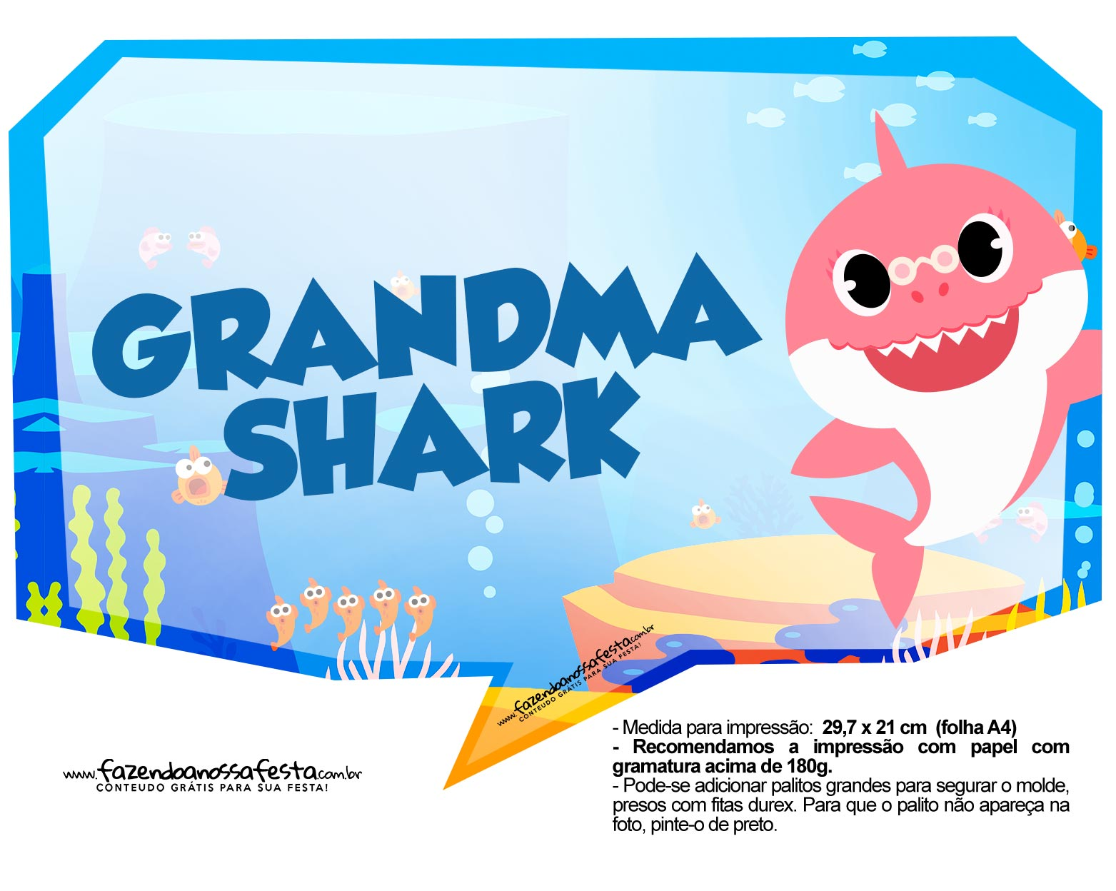 Plaquinhas Baby Shark 42