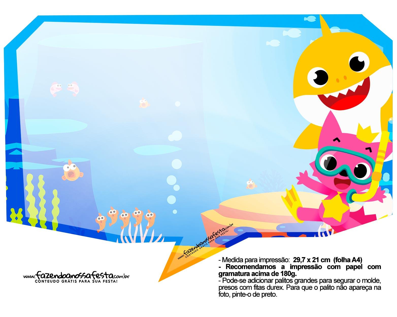 Plaquinhas para Festa Baby Shark 1