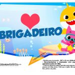 Plaquinhas divertidas Baby Shark 10