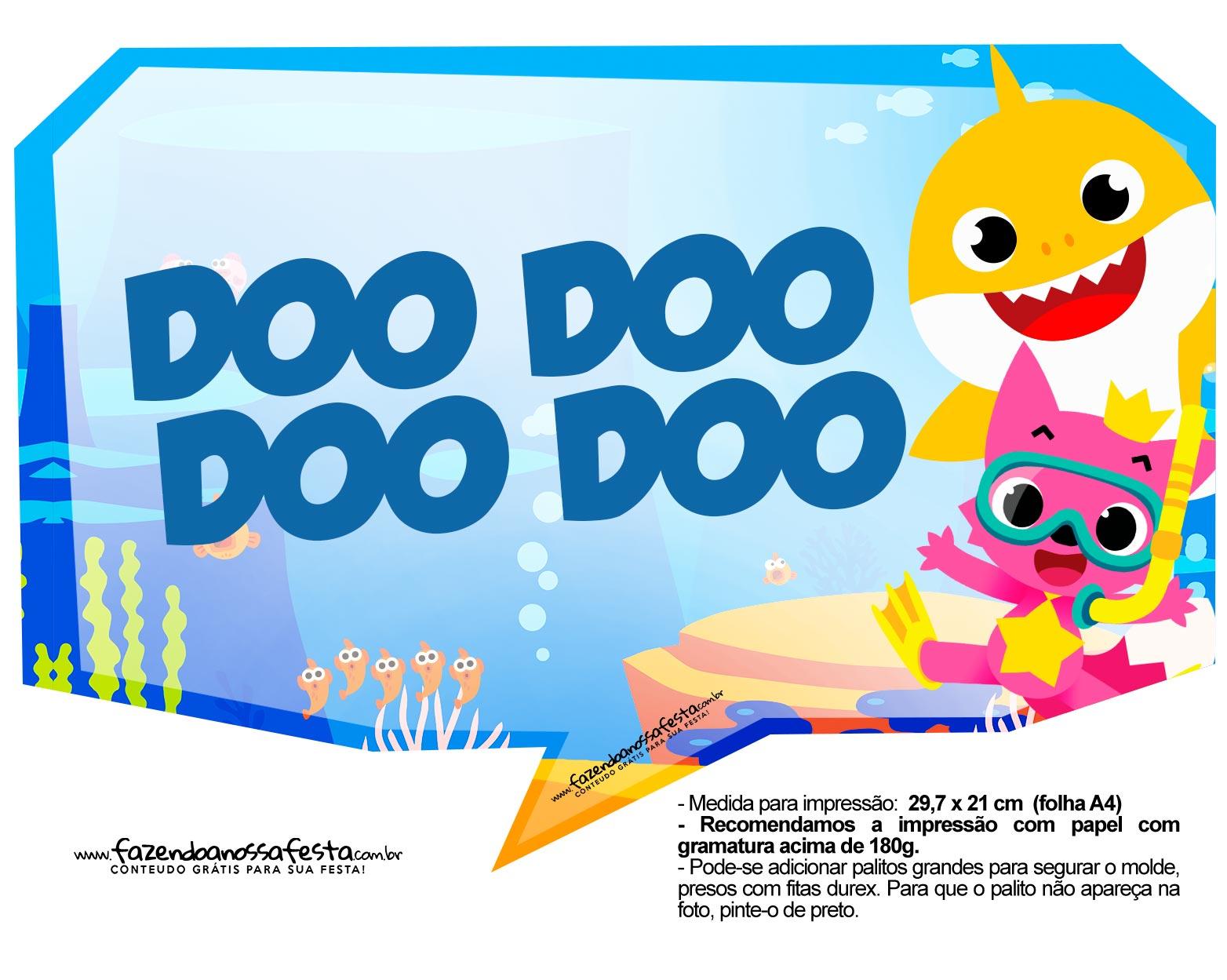 Plaquinhas para Festa Baby Shark 2