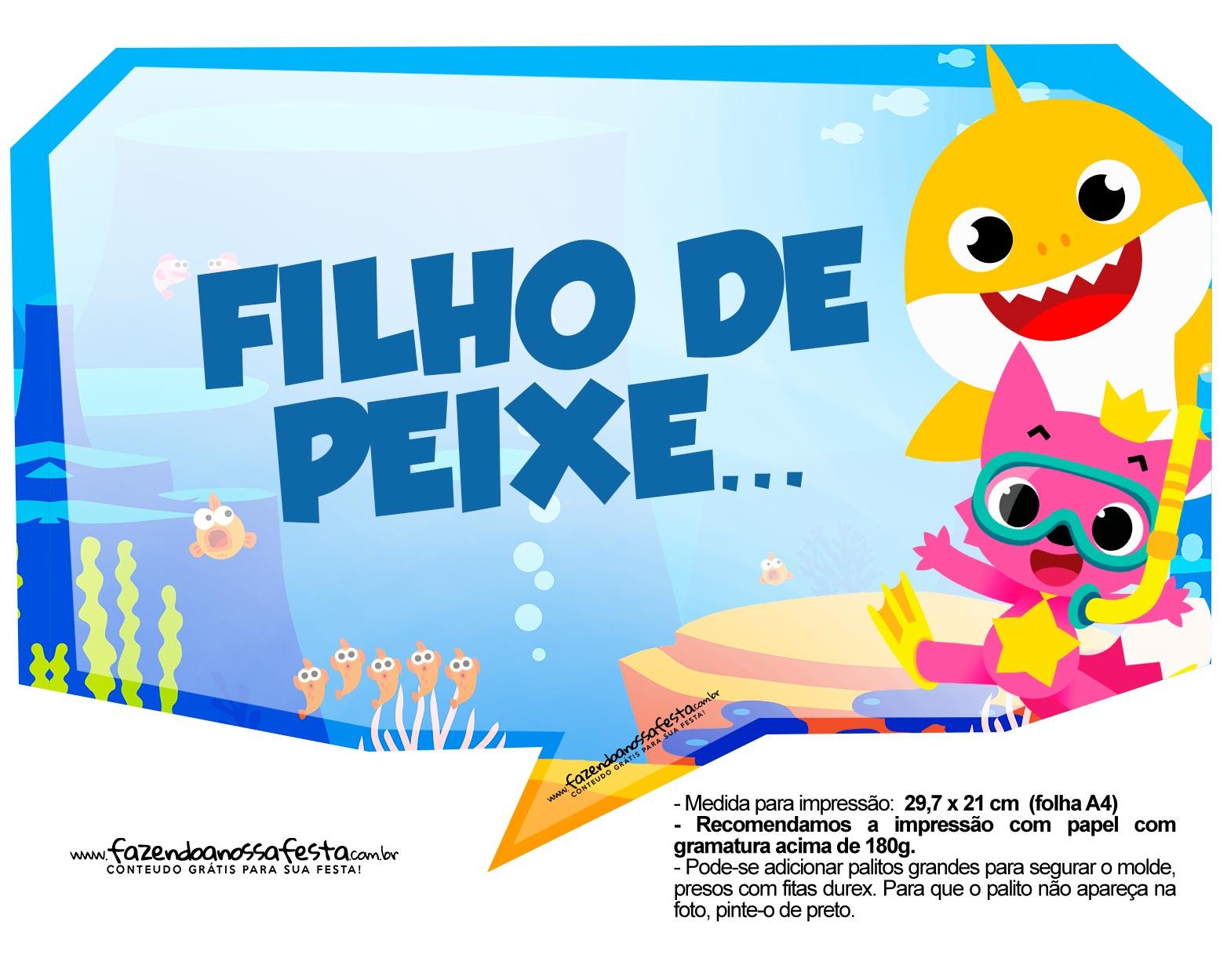 Plaquinhas para Festa Baby Shark 4