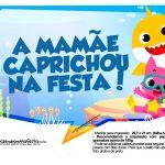 Plaquinhas para Festa Baby Shark 6