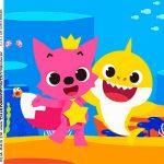 Rotulo Caixa Acrilica Baby Shark