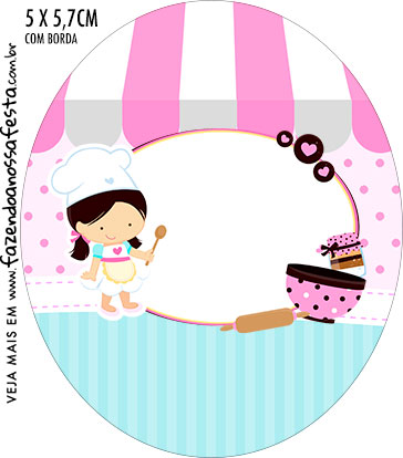 Rotulo Oval Kit Festa Confeitaria