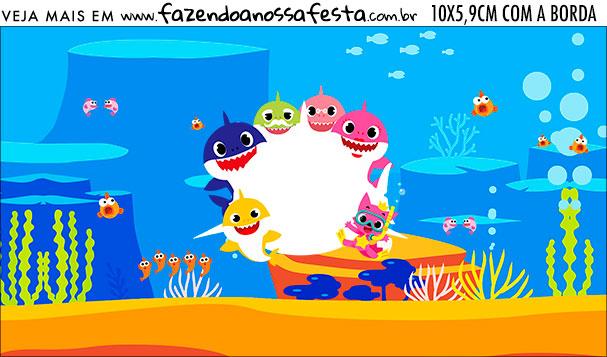 Rotulo Squeezze 300 ml Baby Shark