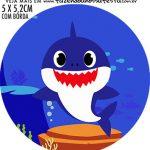 adesivo mini latinha Baby Shark