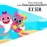 Bandeirinha Sanduiche personalizado Festa Baby Shark Rosa