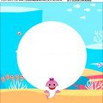 Bandeirola personalizada Festa Baby Shark Rosa