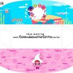 Caixa Mini Cachorro Quente Festa Baby Shark Rosa