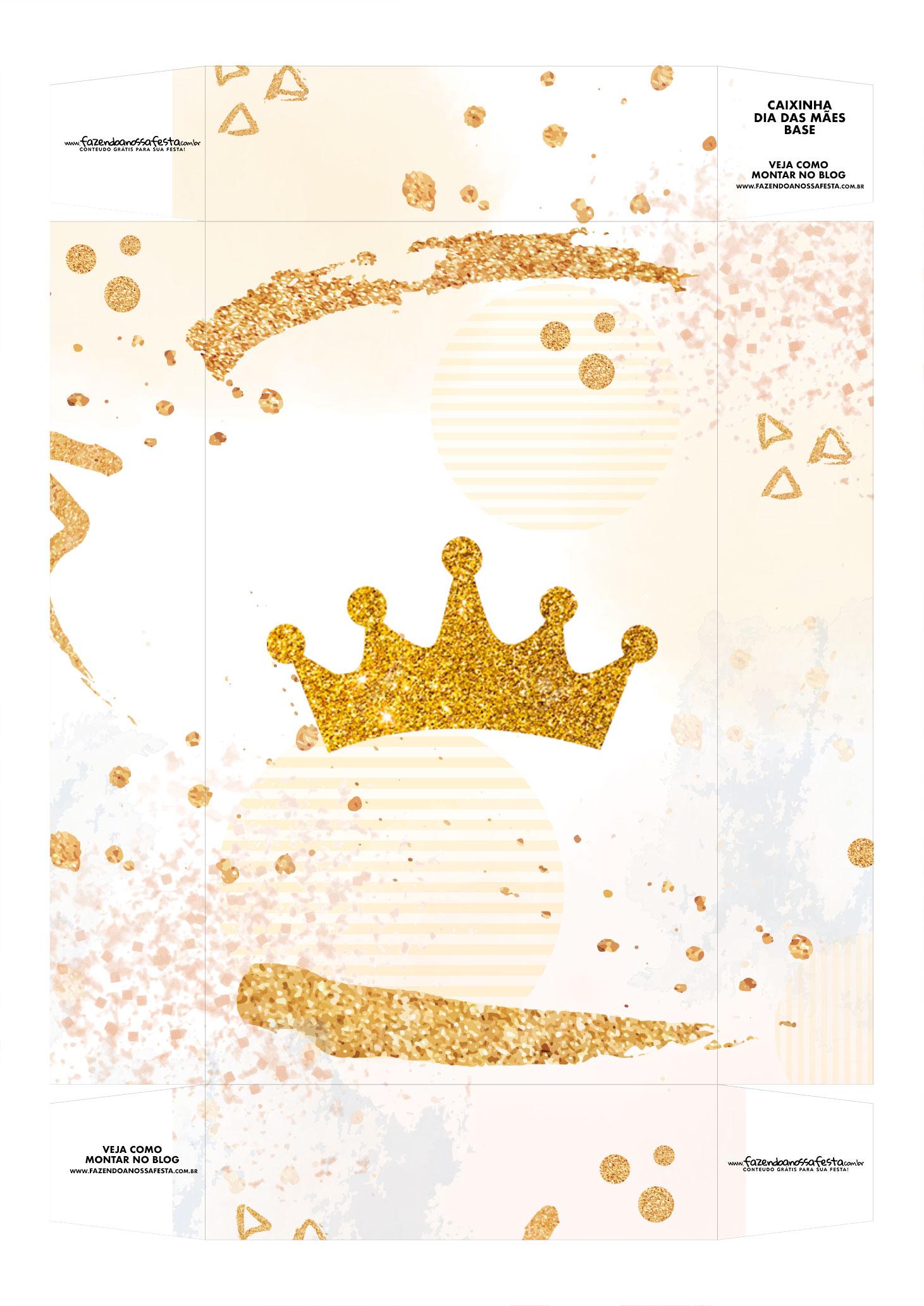 Caixa Personalizada Mae Minha Rainha base
