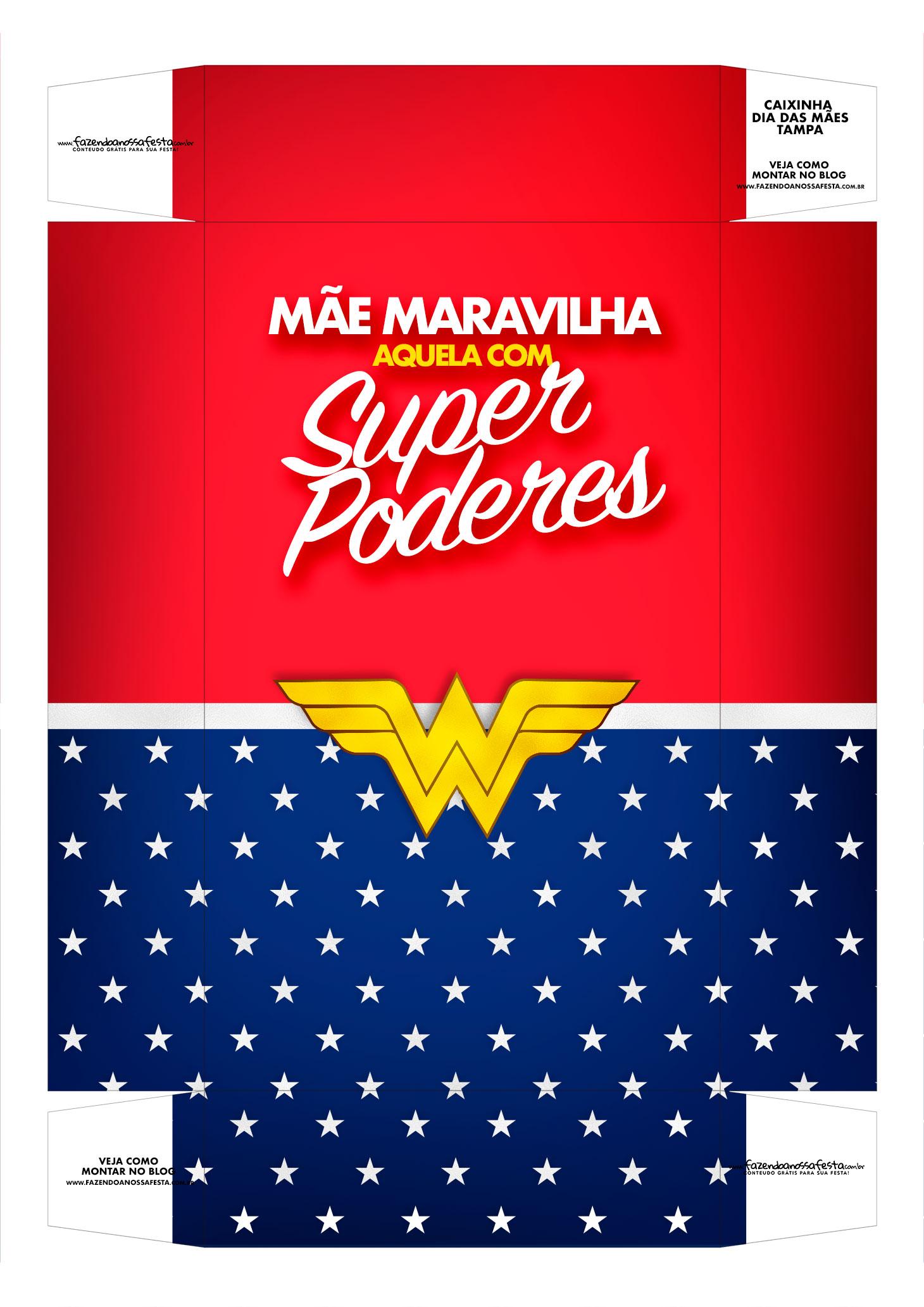 Caixa personalizada Mae Maravilha tampa