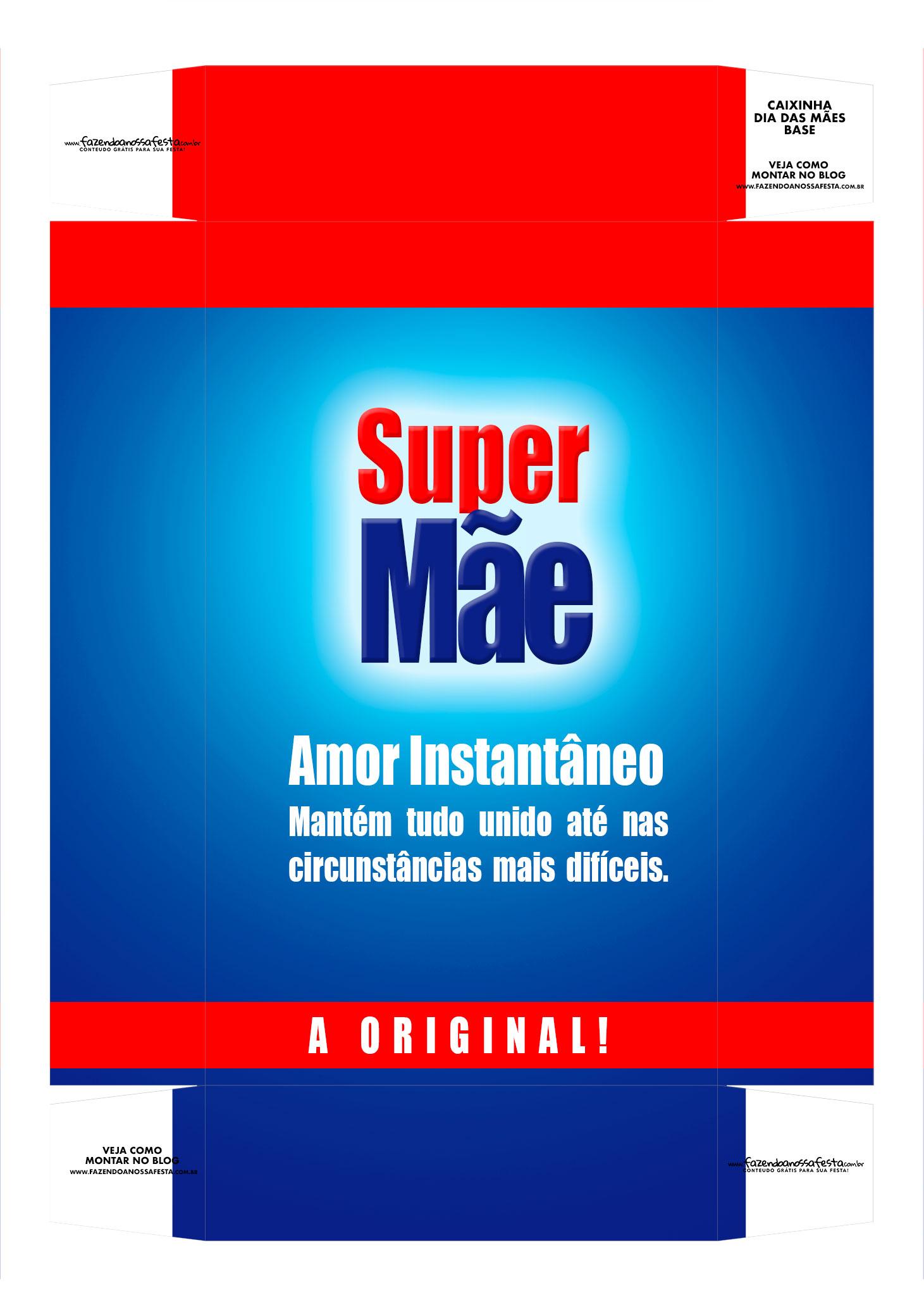 Caixa personalizada Super Mae base