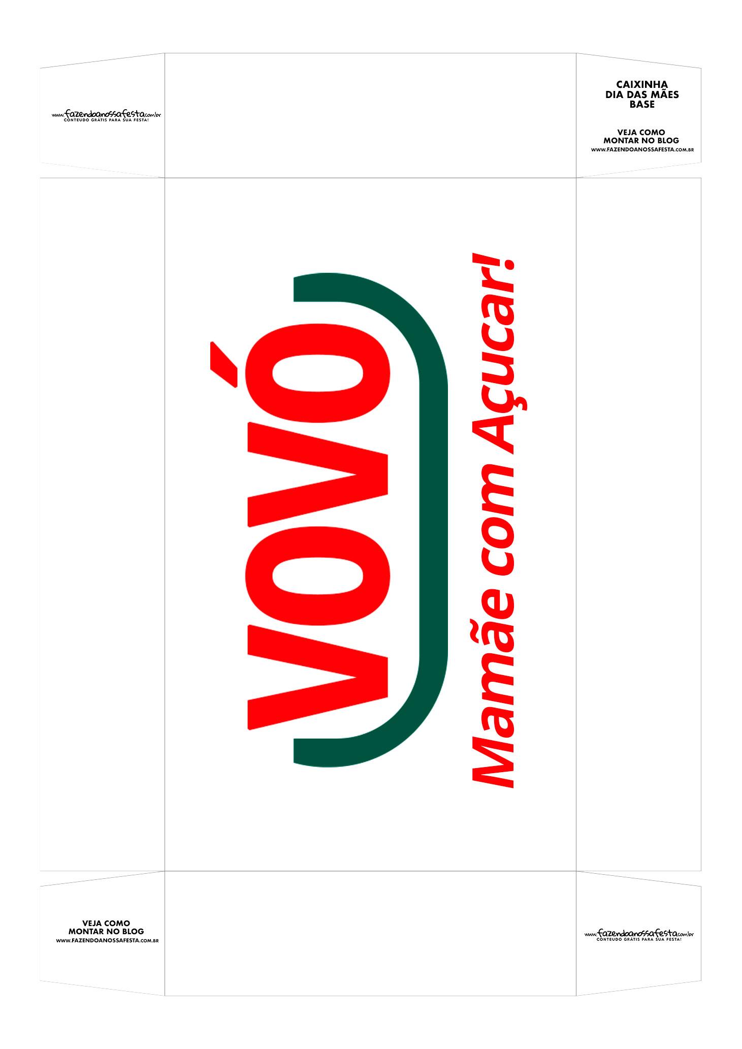 Caixa personalizada Vovo Mamae com Acucar base