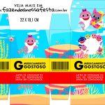 Caixinha de Remedio Personalizada Festa Baby Shark Rosa