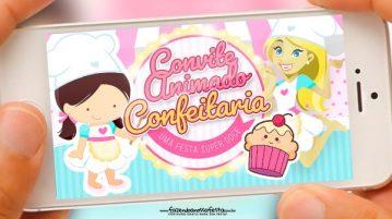 Convite Animado Confeitaria