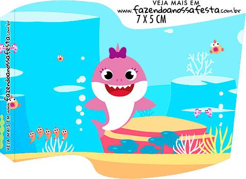 Bandeirinha para imprimir Baby Shark Menina