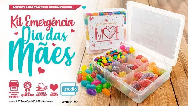 Kit Emergencia Da Mae Caixinha com doces