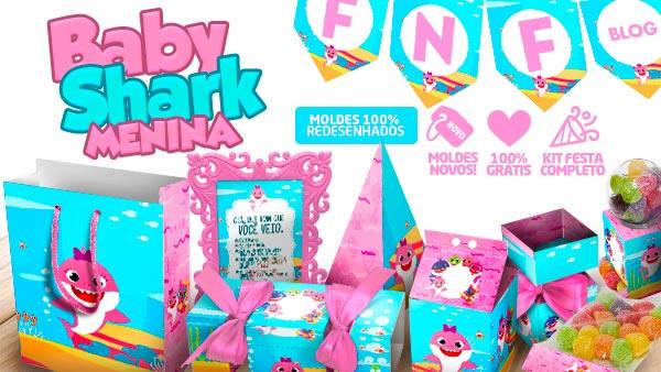 Kit Festa Baby Shark Rosa Menina