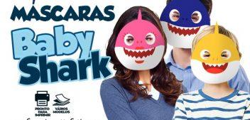 Mascaras Baby Shark para imprimir