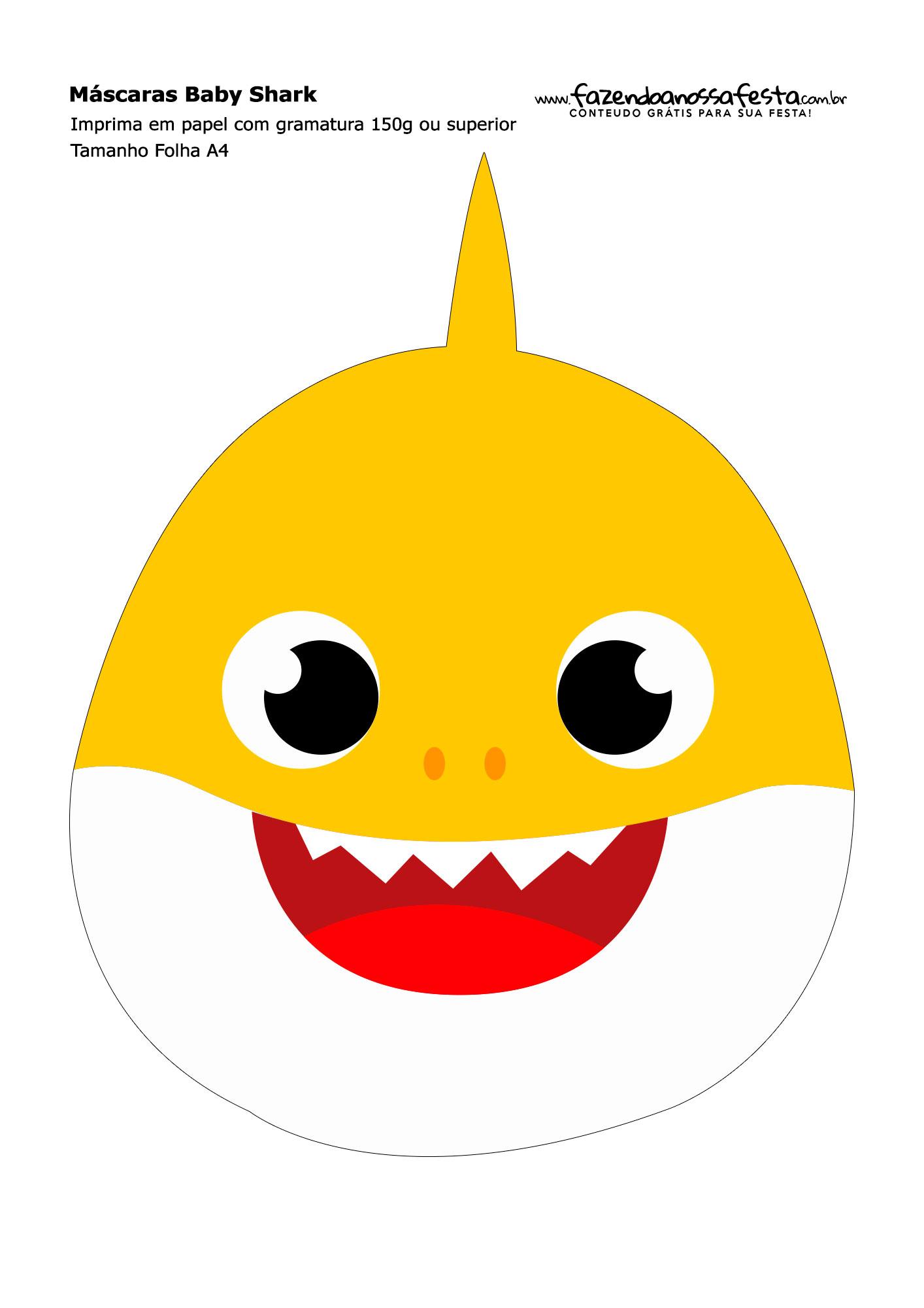 Mascaras Baby Shark