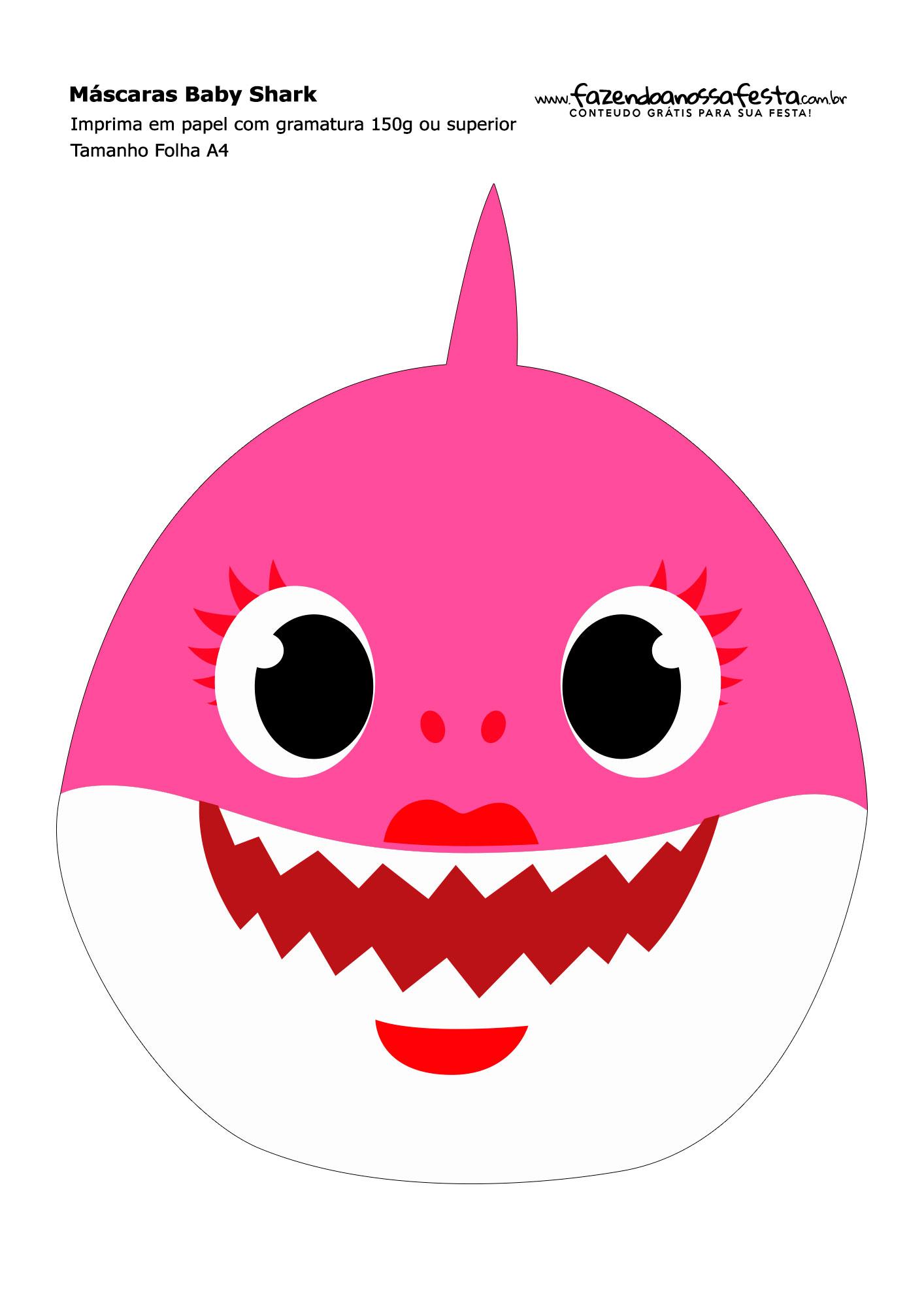 Mascaras Mommy Shark