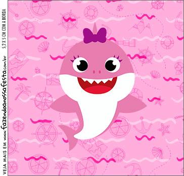 Molde Caixa Acrilica Festa Baby Shark Rosa