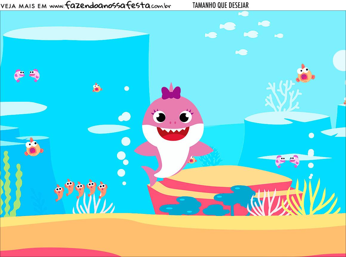 Personalizado Festa Baby Shark Rosa