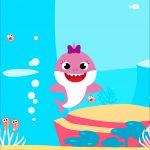 Printable Festa Baby Shark Rosa
