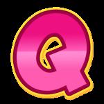 Q Alfabeto Patrulha Canina Rosa