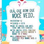 Recado de Mesa Kit Festa Baby Shark Rosa
