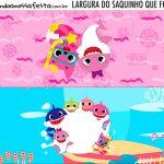 Rotulo Saquinho de Bala Kit Festa Baby Shark Rosa