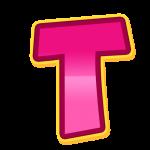 T Alfabeto Patrulha Canina Rosa