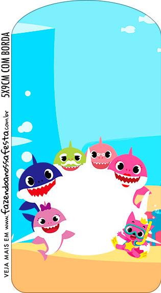 Tag Kit Festa Baby Shark Rosa