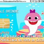 Vale Brinde Kit Festa Baby Shark Rosa