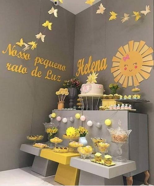 15 Decoracao Festa Infantil Sunshine