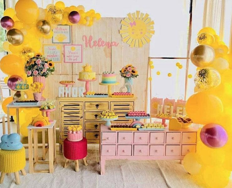 16 Decoracao Festa Infantil Sunshine