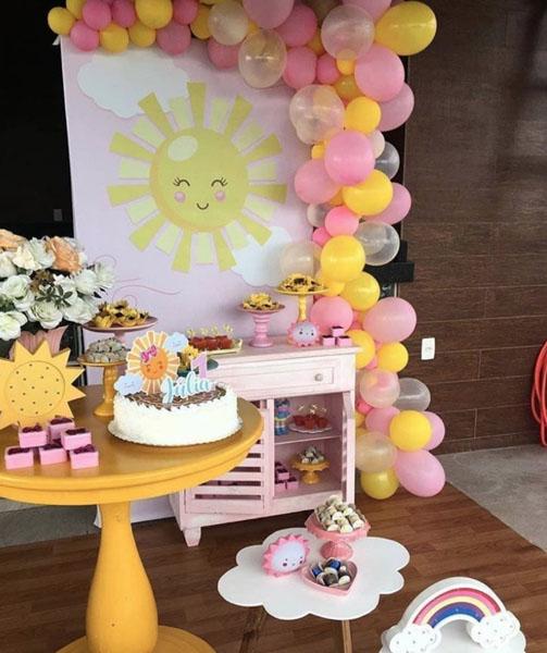 9 Decoracao Festa Sunshine Ideias