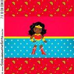 Adesivo Bala Personalizada Festa Mulher Maravilha Afro Cute