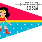 Bandeirinha Sanduiche para imprimir Festa Mulher Maravilha cute
