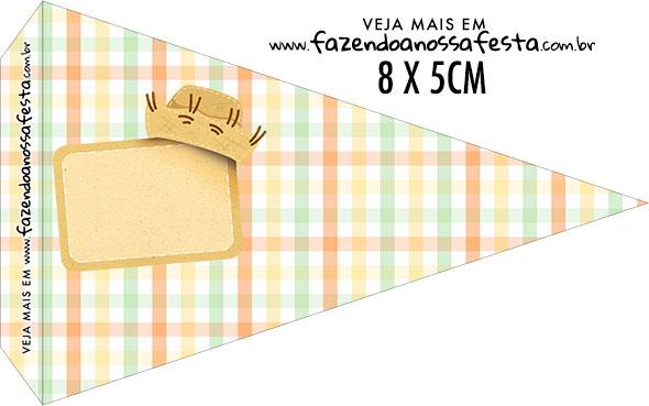 Bandeirinha Sanduiche para imprimir Kit Festa Junina Tons Pasteis