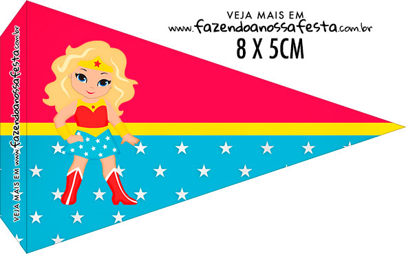 Bandeirinha Sanduiche para imprimir Mulher Maravilha Loira