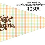 Bandeirinha Sanduiche personalizado Kit Festa Junina Tons Pasteis