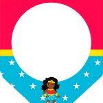 Bandeirinha Varalzinho Festa Mulher Maravilha Afro Cute
