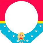 Bandeirinha Varalzinho Mulher Maravilha Loira