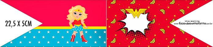 Bandeirinha de Dois Lados Mulher Maravilha Loira