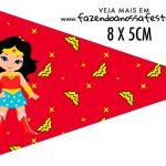 Bandeirinha para sanduiche Festa Mulher Maravilha cute