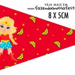 Bandeirinha para sanduiche Mulher Maravilha Loira