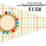 Bandeirinha sanduiche Kit Festa Junina Tons Pasteis