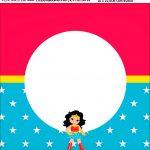 Bandeirola personalizada Festa Mulher Maravilha cute