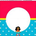 Bandeirola personalizada Festa Mulher Maravilha Afro Cute